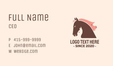 Farm Barn Animal Heads Business Card