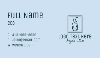 Penguin Picture Frame Business Card