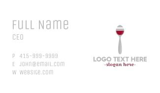 Wine Spoon Business Card