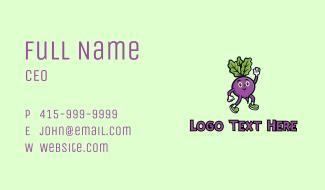 Radish Vegetable Character Business Card
