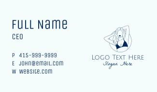 Beautiful Lady Model Business Card