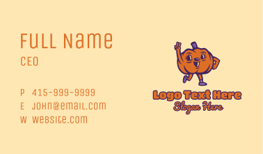 Peace Pumpkin Vegetable Business Card