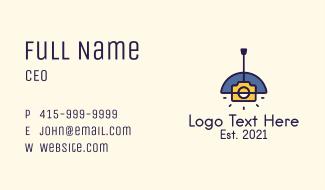 Camera Lamp Business Card