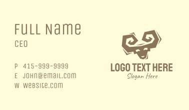 Brown Ram Silhouette Business Card