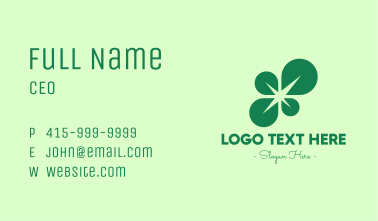 Green Leaf Spark Business Card