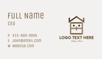 Home Furnishing Mascot Business Card