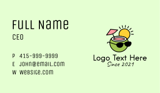 Cool Coconut Drink Business Card
