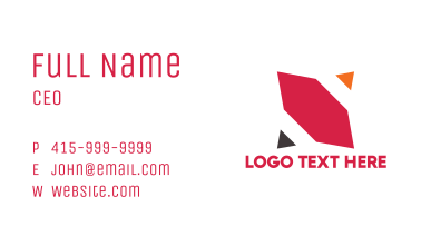 Modern Geometric N Business Card