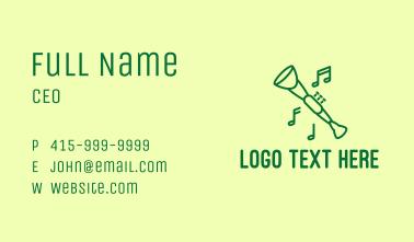 Green Jazz Oboe Business Card