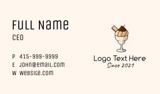 Ice Cream Milkshake  Business Card