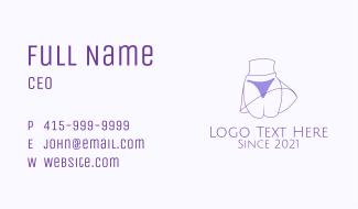 Purple Sexy Bikini Business Card