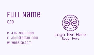 Purple Dragon Head Business Card
