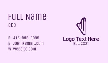 Minimalist Purple Harp  Business Card