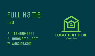 Green Residential Realty Property Business Card