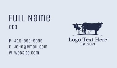 Cattle Ranch Business Card