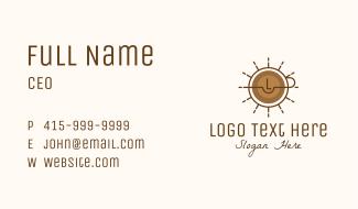 Coffee Wheel Lettermark Business Card
