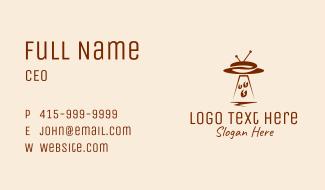 UFO Spaceship Coffee Bean Business Card