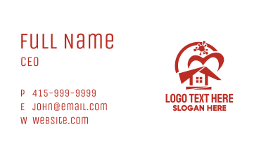 Red Quarantine House  Business Card