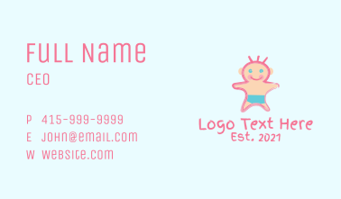 Cute Baby Scribble  Business Card