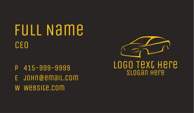 Orange Race Car  Business Card