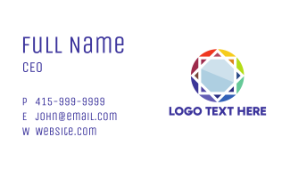 Colorful Star Business Card