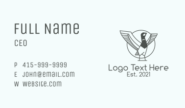 Grey Duck Outline  Business Card
