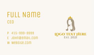 Beauty Queen Crown Business Card