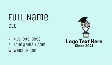 Webinar Location Pin  Business Card