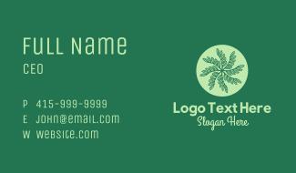 Leaf Vines Pattern Business Card