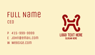 Simple Letter H Business Card