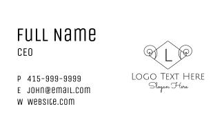Minimalist Ram Horn Letter Business Card