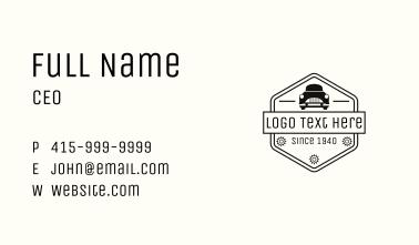 Car Hexagon Automotive Badge Business Card
