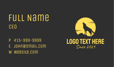 Moon Wolf Howl  Business Card