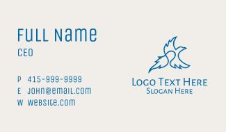 Blue Flying Eagle  Business Card