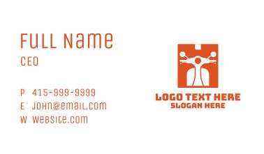Orange Parcel Motorcycle Business Card