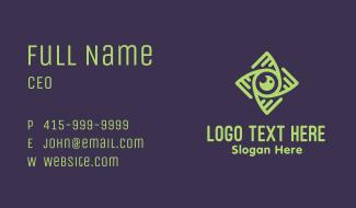 Green Eye Cyclone Business Card