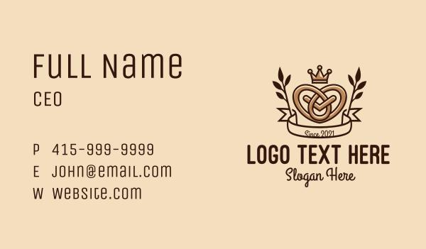 pretzel - Pretzel Crown King Business card horizontal design