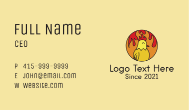 Spicy Chicken Flames Business Card