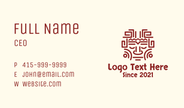 Mayan Tribal Face Business Card