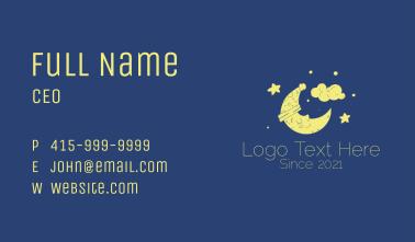 Sleepy Moon Mascot  Business Card