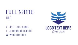 Blue Hawk Shield Business Card