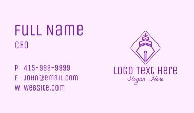 Purple Pen Ship Business Card