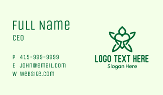 Green Turtle Heart Business Card