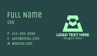 Modern Green Symbol Business Card