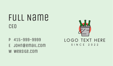 Alcohol Beer Bucket  Business Card