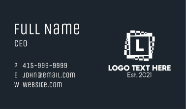 White Media Letter  Business Card