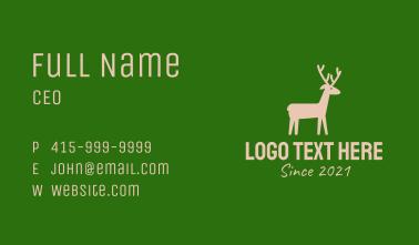 Brown Wild Deer Business Card