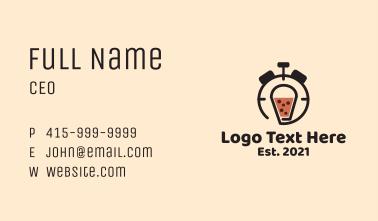 Boba Tea Timer  Business Card