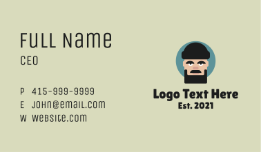 Bearded Father Face  Business Card