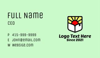 Sunrise Bookstore Business Card